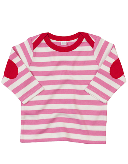 With Elbow Patches Babybugz Baby Stripy Long Sleeve T